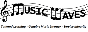 Music Waves Logo with Mission Statement